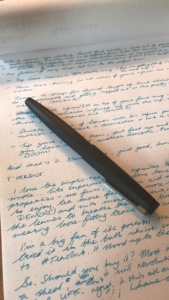 Lamy 2000 fountain pen and writing