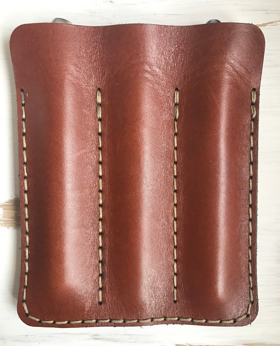 Galen Leather Three Pen Sleeve: stiffer than steel!